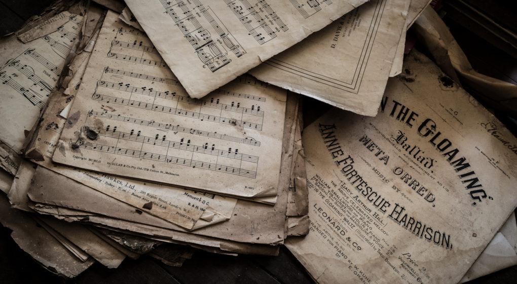 Imagem de partituras antigas